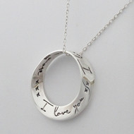 I Love You More Mobius Necklace - 925 Sterling Silver