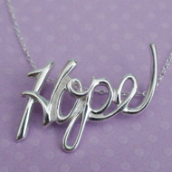Hope Necklace - Sterling Silver Hope Slider Necklace