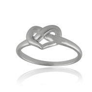 Heart Knot Ring - 925 Sterling Silver - Promise Ring Infinity Infinite Knot NEW