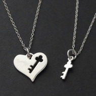 Key to My Heart Necklaces - Sterling Silver