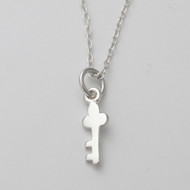Add-On Tiny Key Necklace - Sterling Silver