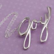 Joy Necklace - Sterling Silver Joy Slider Necklace