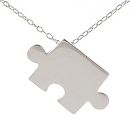 Puzzle Piece Necklace - Sterling Silver