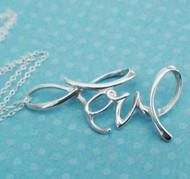 Love Necklace - Sterling Silver Love Slider Necklace