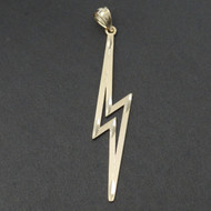 Lightning Bolt Pendant - Solid 10K Yellow Gold