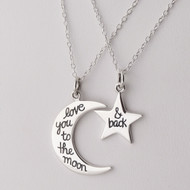 Love You to the Moon and Back Necklaces - Sterling Silver