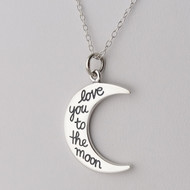 Love You To The Moon Necklace - 925 Sterling Silver