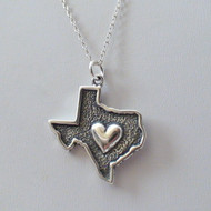 Texas State Charm Necklace - 925 Sterling Silver