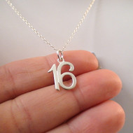 16 Sixteen Charm Necklace - 925 Sterling Silver