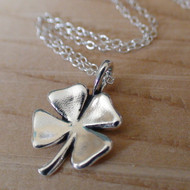 Four Leaf Clover Necklace - Sterling Silver