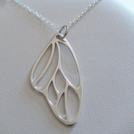 Sterling Silver Butterfly Wing Necklace