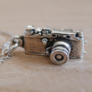 Camera Charm Necklace - 925 Sterling Silver