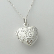 Sweet 16 Locket Necklace - 925 Sterling Silver