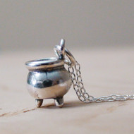 Cauldron Necklace - 925 Sterling Silver