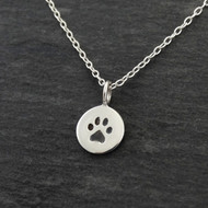 Itty Bitty Paw - Sterling Silver Paw Charm Necklace