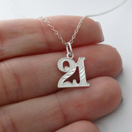 21 Twenty-One Necklace - 925 Sterling Silver