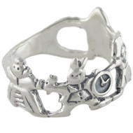 Alice in Wonderland Ring - 925 Sterling Silver