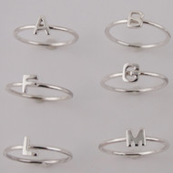 Stacking Letter Ring - 925 Sterling Silver