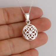 Celtic Knot Charm Necklace - 925 Sterling Silver