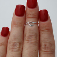 Wishbone Midi (Knuckle) Ring - Sterling Silver