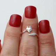 Fox Midi (Knuckle) Ring - Sterling Silver