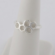 Honeycomb Ring - 925 Sterling Silver