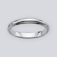 3 mm Plain Band Ring - 925 Sterling Silver