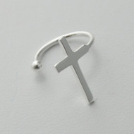 Cross Ear Cuff - 925 Sterling Silver