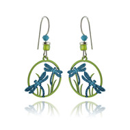 Dragonfly Earrings - 925 Sterling Silver Earwires