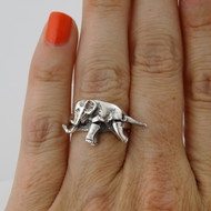 Elephant Ring - Sterling Silver