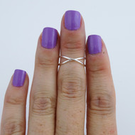 Criss Cross Midi (Knuckle) Ring - 925 Sterling Silver