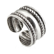 Braided Ear Cuff Earring - 925 Sterling Silver