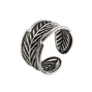 Feather Ear Cuff Earring - Sterling Silver