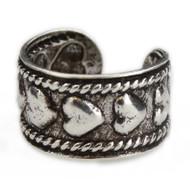 Hearts Ear Cuff Earring - Sterling Silver