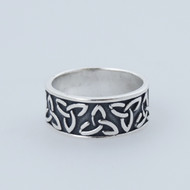 Celtic Knot Trinity Ring - 925 Sterling Silver