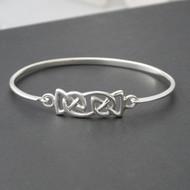 Celtic Knot Trinity Bangle Bracelet - Sterling Silver