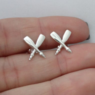 Oar Earrings - 925 Sterling Silver