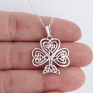 Celtic Trinity Tree of Life Necklace - 925 Sterling Silver