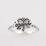 Lotus Flower Ring - 925 Sterling Silver