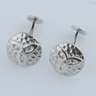 Hammered Trinity Knot Cuff Links - 925 Sterling Silver