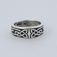 Celtic Knot Trinity Ring - Sterling Silver