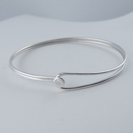 Sterling Silver Double Wire Hook and Eye Bracelet