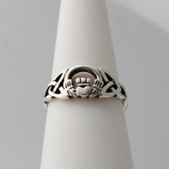 Celtic Claddagh Ring - 925 Sterling Silver