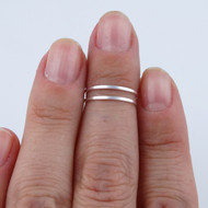 Double Bar Midi Ring - 925 Sterling Silver