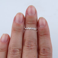 Braided Rope Midi Ring - 925 Sterling Silver