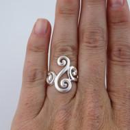 Fancy Swirl Ring - 925 Sterling Silver