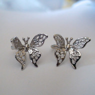 Butterfly Ear Cuff Earrings - 925 Sterling Silver