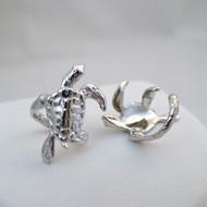 Turtle Ear Cuff Earrings - 925 Sterling Silver