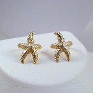 Starfish Ear Cuff Earrings - 24k Gold Plated Sterling Silver