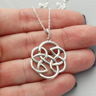 Celtic Infinity Knot Necklace - Sterling Silver
